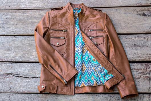 Верхняя одежда ручной работы. Ярмарка Мастеров - ручная работа. Купить Кожаная куртка . Куртка из натуральной кожи. Handmade. Коричневый