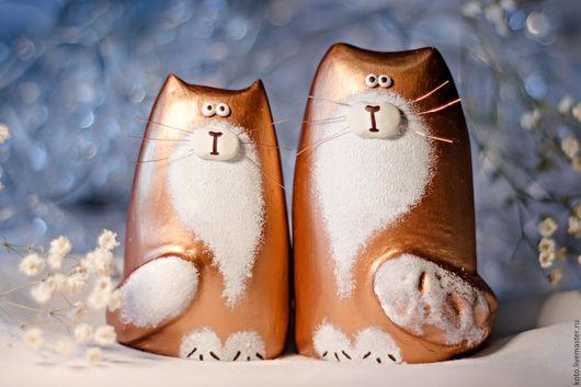Персональные подарки ручной работы. Ярмарка Мастеров - ручная работа. Купить Пара кот и кошка - подарок на 8 марта. Handmade.