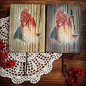 """Подарки к праздникам ручной работы. Ярмарка Мастеров - ручная работа Вешалки """"Петушок"""" 3 варианта. Handmade."""