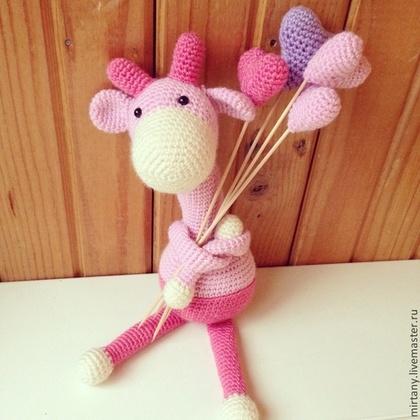 Игрушки животные, ручной работы. Ярмарка Мастеров - ручная работа Вязаная игрушка Жираф. Handmade.