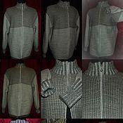 Одежда handmade. Livemaster - original item 70 % linen 30% wool Hoodie zip. Handmade.