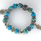 Украшения handmade. Livemaster - original item B36 bracelets turquoise with Turkmenistan. Handmade.