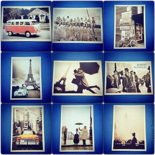 Из этой серии осталось 4 открытки: второй ряд - в середине и правая, третий ряд - левая и правая. Остальные - на заказ!