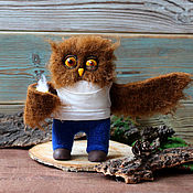 Куклы и игрушки handmade. Livemaster - original item Owl in the morning is a great toy. Handmade.