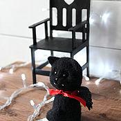 Куклы и игрушки ручной работы. Ярмарка Мастеров - ручная работа Граф Дракула кот с троном. Handmade.