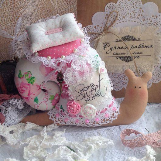 Куклы Тильды ручной работы. Ярмарка Мастеров - ручная работа. Купить Интерьерная улитка. Handmade. Тильда, Декор, улитка в подарок