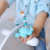 Куклы и игрушки ручной работы. Ярмарка Мастеров - ручная работа Силиконовый грызунок с держателем. Handmade.