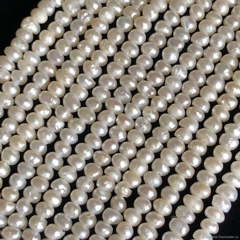 Жемчуг (15) шар 2,5-3 мм, пресноводный, Бусины, Обнинск,  Фото №1