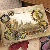 Канцелярские товары ручной работы. Ярмарка Мастеров - ручная работа Винтажный альбом Лондон. Handmade.