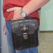 Сумки и аксессуары handmade. Livemaster - original item Mens waist bag genuine leather. Handmade.