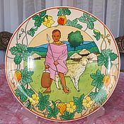Винтаж handmade. Livemaster - original item Collector`s plate (Our children) from Villeroy & Boch, Germany. Handmade.