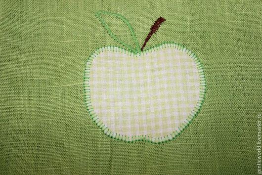 """Кухня ручной работы. Ярмарка Мастеров - ручная работа. Купить фартук """"Зеленое яблоко"""". Handmade. Клетка, одежда для кухни, фартук"""