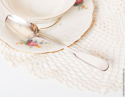 Винтажная посуда. Ярмарка Мастеров - ручная работа. Купить Антикварная чайная ложка серебро 84, 1895 год старинная ложка винтаж. Handmade.