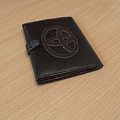 Сувениры и подарки ручной работы. Ярмарка Мастеров - ручная работа Бумажник для авто документов  Toyota. Handmade.