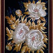 """Картины и панно ручной работы. Ярмарка Мастеров - ручная работа Экопанно """" Когда цветут пионы"""". Handmade."""