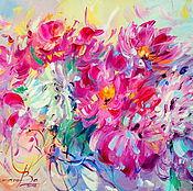 Картины и панно handmade. Livemaster - original item Oil painting on canvas. Fragrant peonies. Handmade.