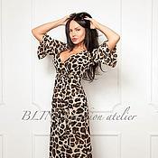 Одежда ручной работы. Ярмарка Мастеров - ручная работа Платье с леопардовым принтом 00059. Handmade.