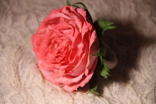 """Заколки ручной работы. Ярмарка Мастеров - ручная работа. Купить Роза из фоамирана """"Красотка"""".. Handmade. Розовый, роза из фоамирана"""
