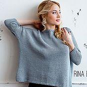 Одежда ручной работы. Ярмарка Мастеров - ручная работа Безмятежность. Вязаный свитер крупное вязание. Handmade.
