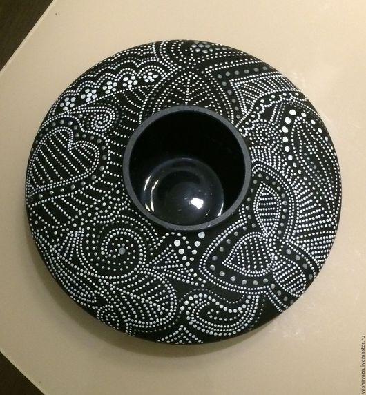"""Вазы ручной работы. Ярмарка Мастеров - ручная работа. Купить Ваза стеклянная """"черно-белое"""". Handmade. Чёрно-белый, стекло"""