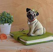 "Подарки к праздникам handmade. Livemaster - original item Copy of dog ""Pug Bonnie"" / needlefelting toys. Handmade."