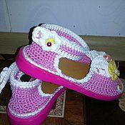 Footwear handmade. Livemaster - original item Sandals Flower. Handmade.