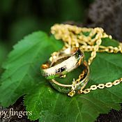 Материалы для творчества handmade. Livemaster - original item The ring of Power, ring of power. Lord of the rings. Handmade.