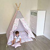 Для дома и интерьера ручной работы. Ярмарка Мастеров - ручная работа Вигвам-домик для игр. Handmade.