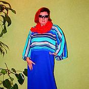 """Одежда ручной работы. Ярмарка Мастеров - ручная работа Комплект двойка:Платье+пуловер в стиле бохо """"Морячка"""". Handmade."""