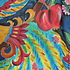 Шали, палантины ручной работы. Платок Жар-птица. Шелк, батик. Ольга vintage decor & batik. Ярмарка Мастеров.
