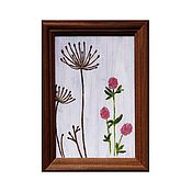 """Картины и панно ручной работы. Ярмарка Мастеров - ручная работа """"Садовые травы"""" миниатюрная картина маслом. Handmade."""