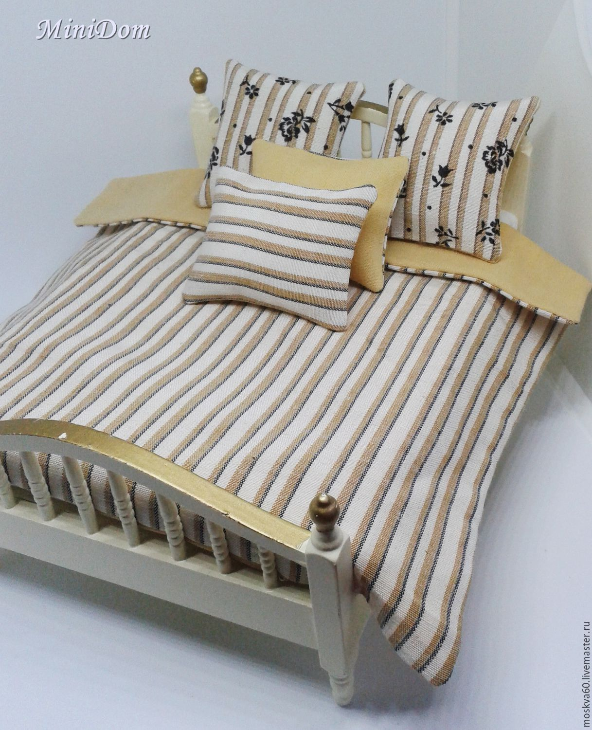 Dollhouse Accessories Bed Cover For Dollhouse Miniature Shop