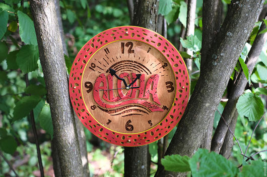 Часы для дома ручной работы. Ярмарка Мастеров - ручная работа. Купить Часы настенные Алоха Лава. Handmade. Комбинированный, серфинг