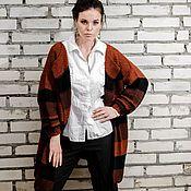 """Одежда ручной работы. Ярмарка Мастеров - ручная работа Пальто вязаное на спицах """"Кофе с шоколадом"""". Handmade."""