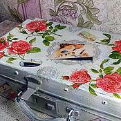 """Сумки и аксессуары ручной работы. Ярмарка Мастеров - ручная работа Старинный маленький чемодан """"Джек и Роуз"""".. Handmade."""