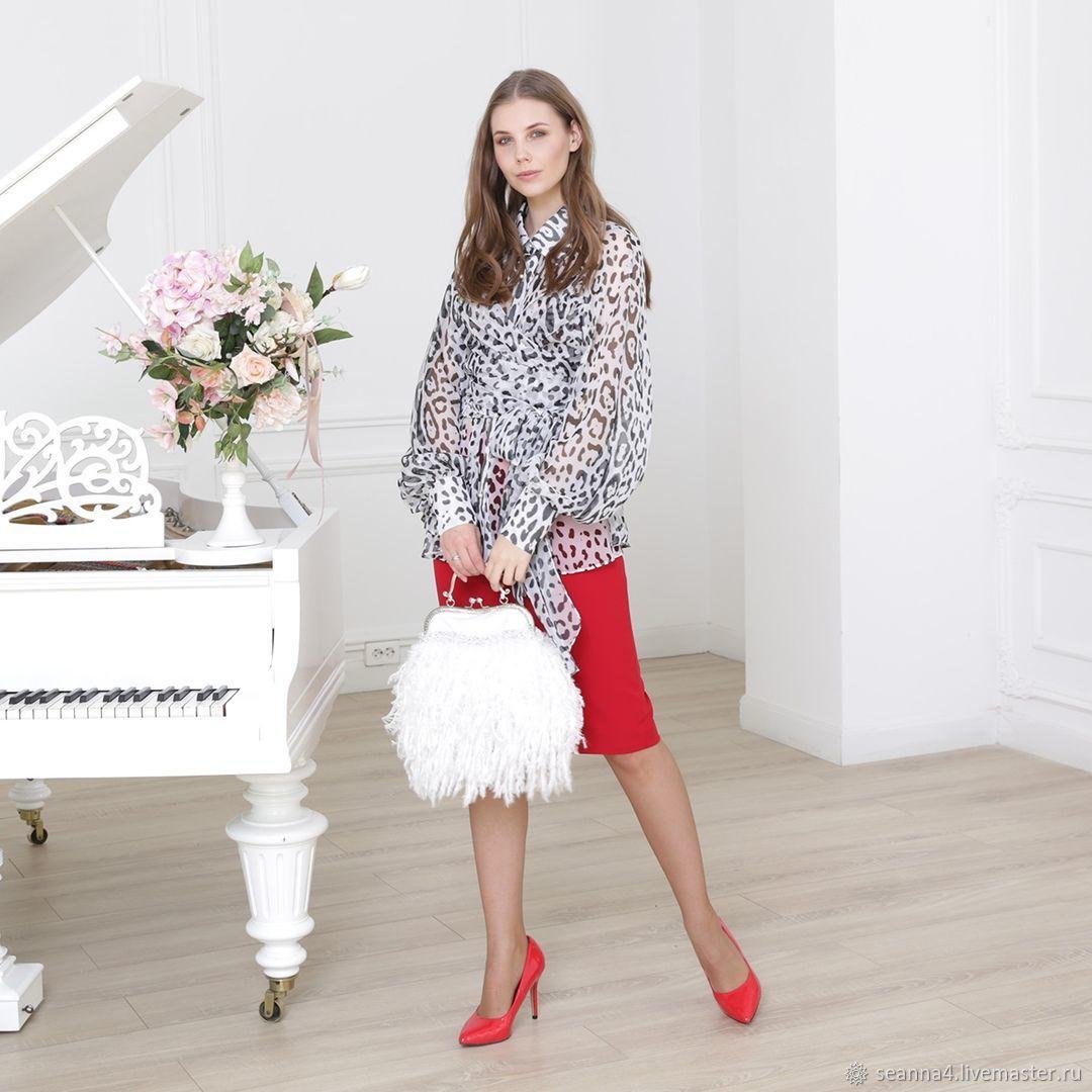 Блузка Азалия Белый Леопард, Блузки, Воронеж,  Фото №1