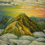 Картины и панно ручной работы. Ярмарка Мастеров - ручная работа За облаками. Handmade.