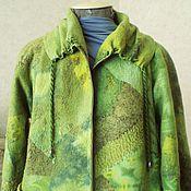 """Одежда ручной работы. Ярмарка Мастеров - ручная работа Куртка валяная """" Green noise....!!"""". Handmade."""
