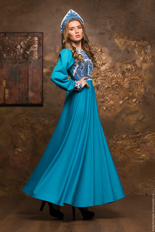 фото платья в русском стиле