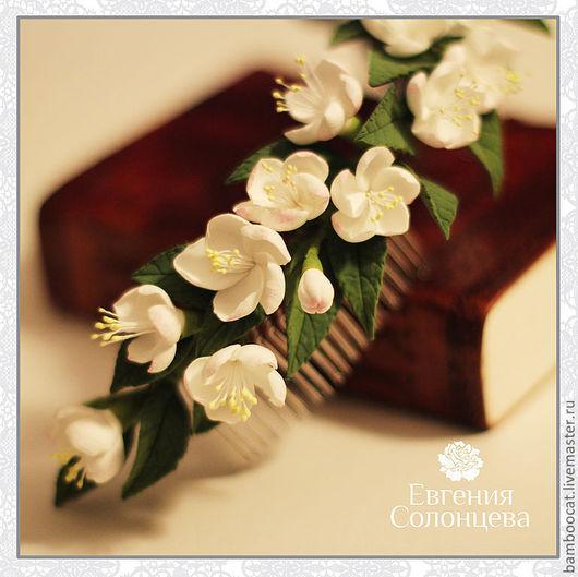 Свадебные украшения ручной работы. Ярмарка Мастеров - ручная работа. Купить Цветы яблони. Handmade. Венок из цветов, венок