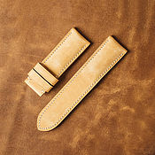 Украшения handmade. Livemaster - original item Panerai Calf Leather Watch Band (26). Handmade.