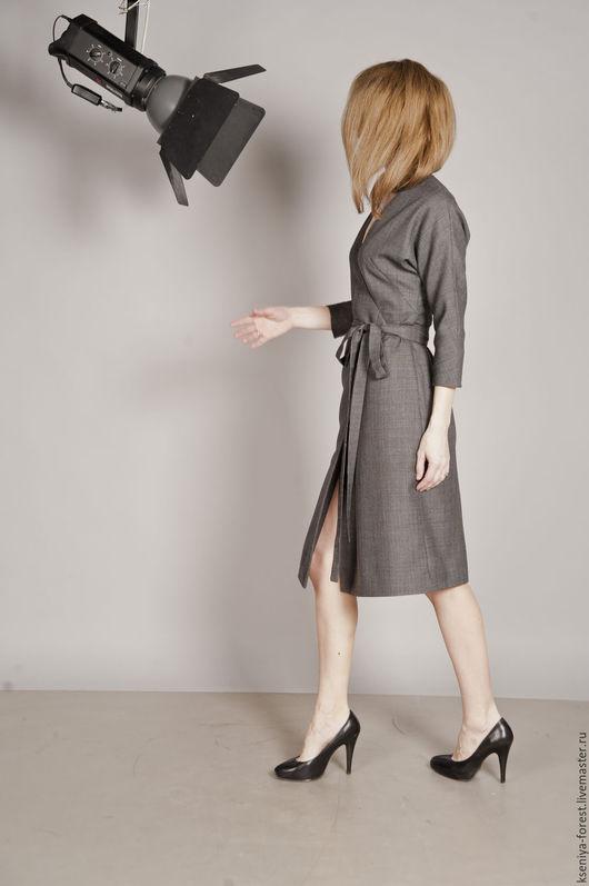 Платья ручной работы. Ярмарка Мастеров - ручная работа. Купить Платье на запах. Handmade. Серый, платье вечернее, запах