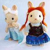 Куклы и игрушки ручной работы. Ярмарка Мастеров - ручная работа Костюмы Холодное сердце для Sylvanian families. Handmade.