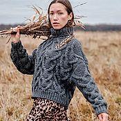 Одежда handmade. Livemaster - original item Jerseys: Women`s sweater large knit oversize gift to the girl. Handmade.