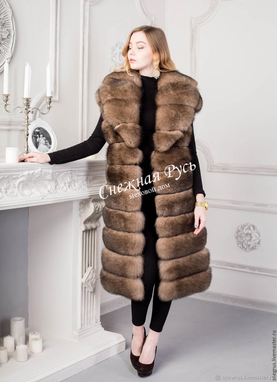 vest made of Fox fur, Vests, Pyatigorsk,  Фото №1