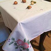 Винтаж handmade. Livemaster - original item Small vintage tablecloth .with a simulation of an application. Handmade.