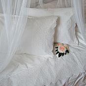 Для дома и интерьера ручной работы. Ярмарка Мастеров - ручная работа Постельное белье в стиле прованс. Цвет молочный. Handmade.