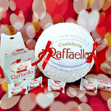Подарки к праздникам ручной работы. Ярмарка Мастеров - ручная работа Коробка для подарка Конфета Рафаэлло. Handmade.