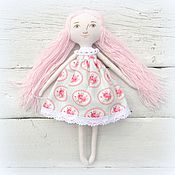 Куклы и игрушки ручной работы. Ярмарка Мастеров - ручная работа Кукла текстильная игровая нежная роза. Handmade.