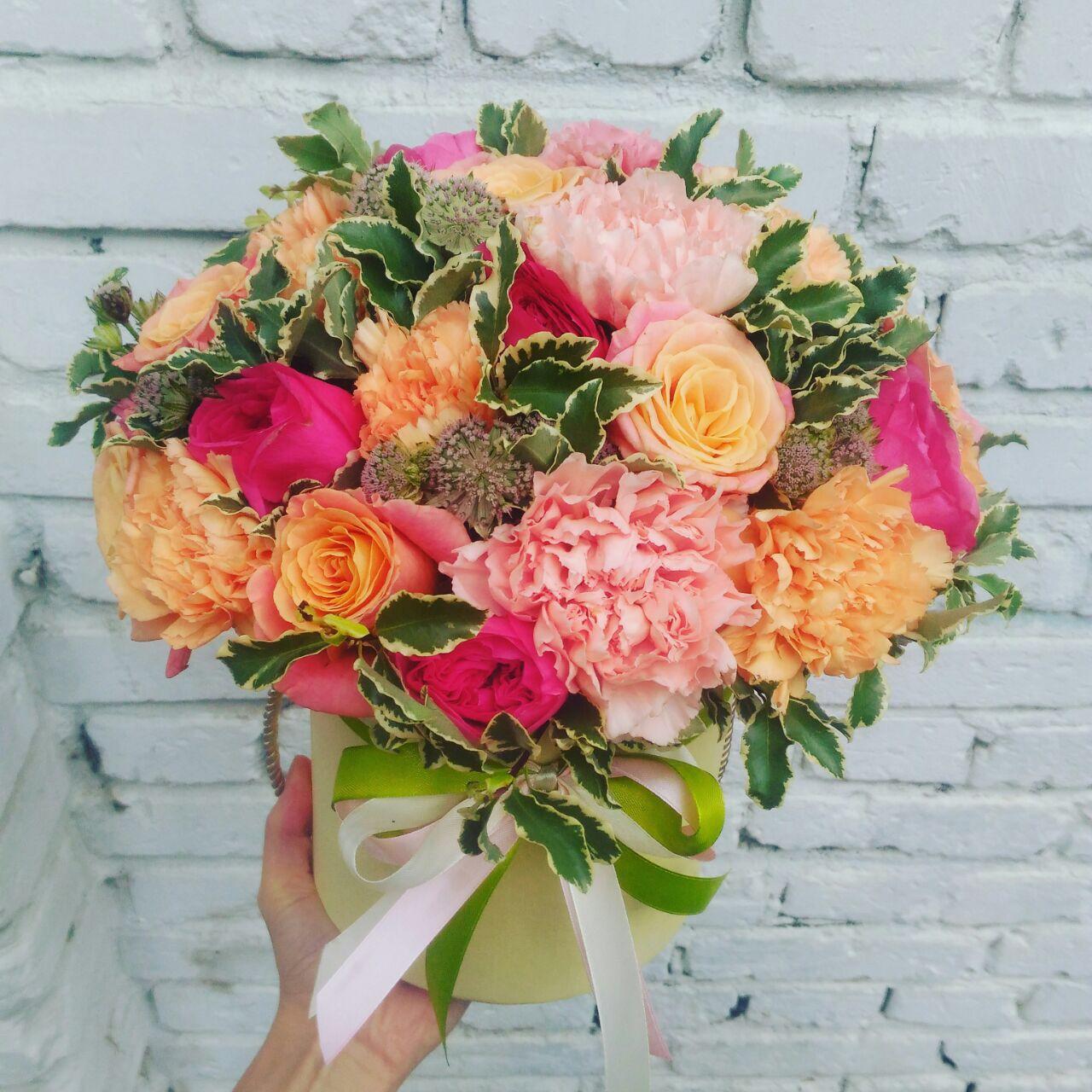 Флористика коробочки с цветами